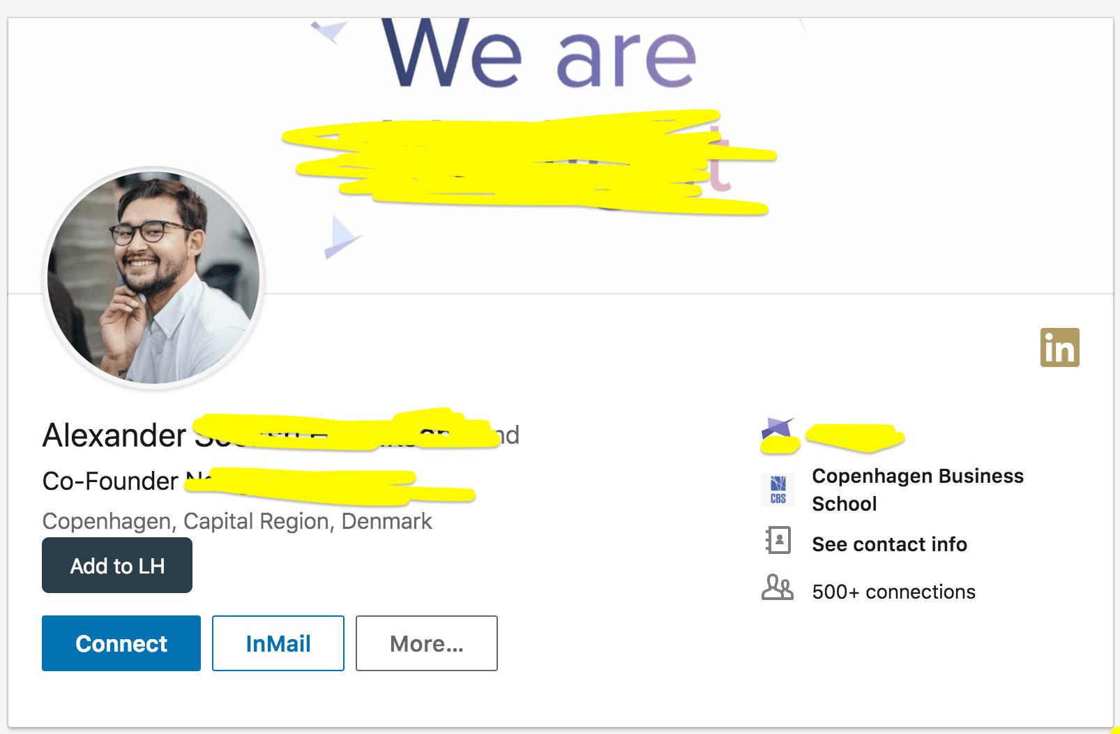 пример хорошего профайла в линкедыне