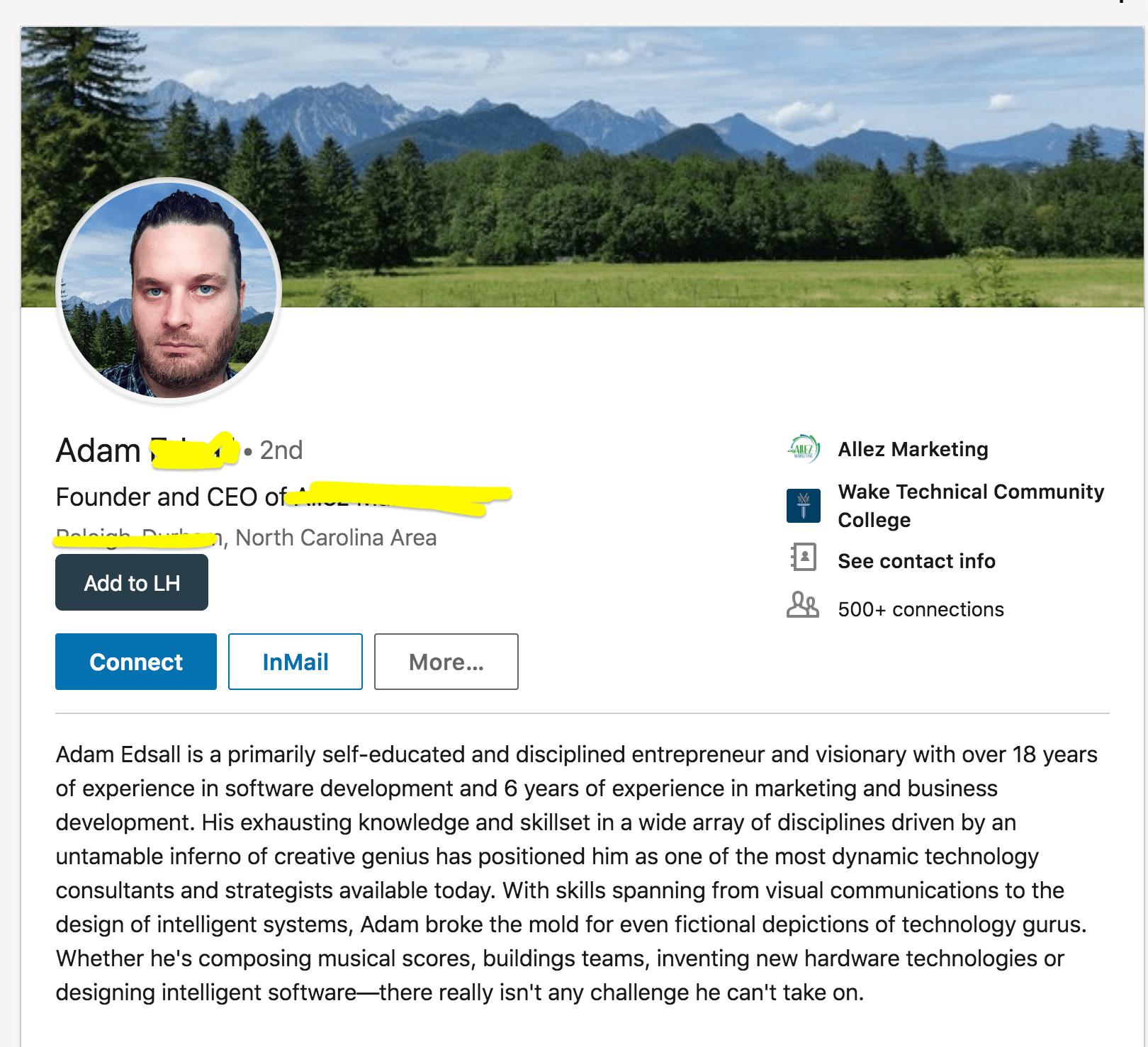 поиск лида в Linkedin